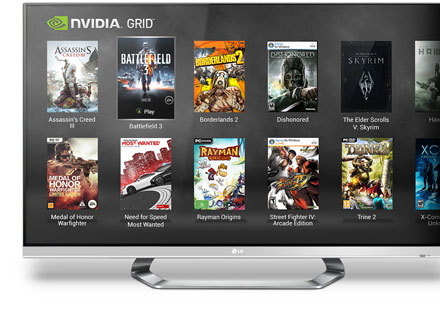 Example of NVIDIA GRID gaming service