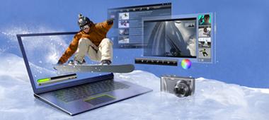 Acrescente multimídia rápida e cheia de recursos ao seu notebook ou ultrabook com as placas gráficas dedicadas GeForce