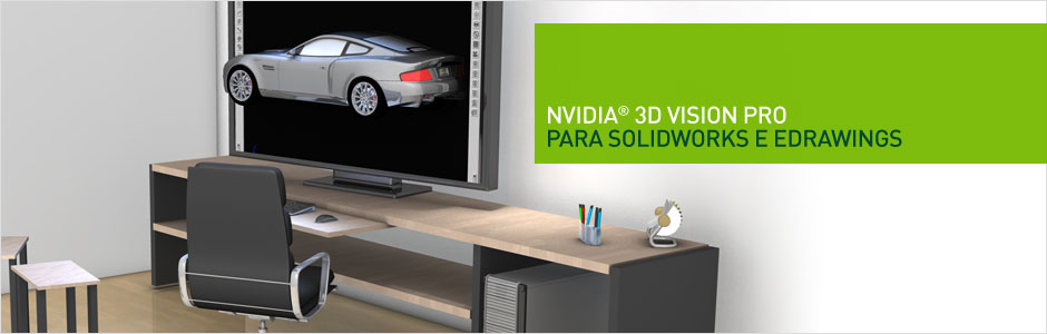 3D Vision PRO para Solidworks e edrawings
