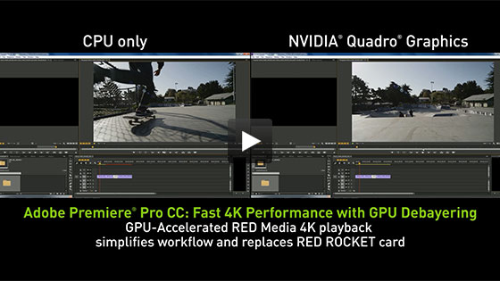 Key NVIDIA GPU-Accelerated features in Adobe Premiere Pro CC